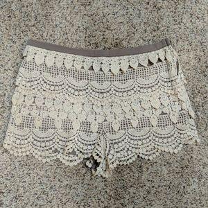 LUSH Crochet Lace Shorts